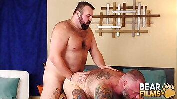 BEARFILMS Two Fat Bears Rex Blue And Kurt Jacobs Bareback