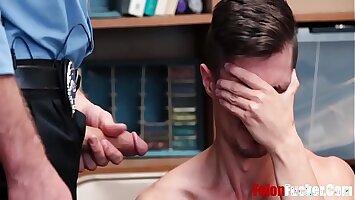 Gay Cop Fucks Stealing Teen