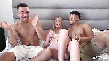 Sexy Mixed Boys With BIG COCKS Swell up And Rim Each Other. Blonde Teen Babe Does Some Male Rimming For First time