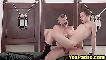 Tiny Twink rides The Fathers hard cock- YesPadre.com